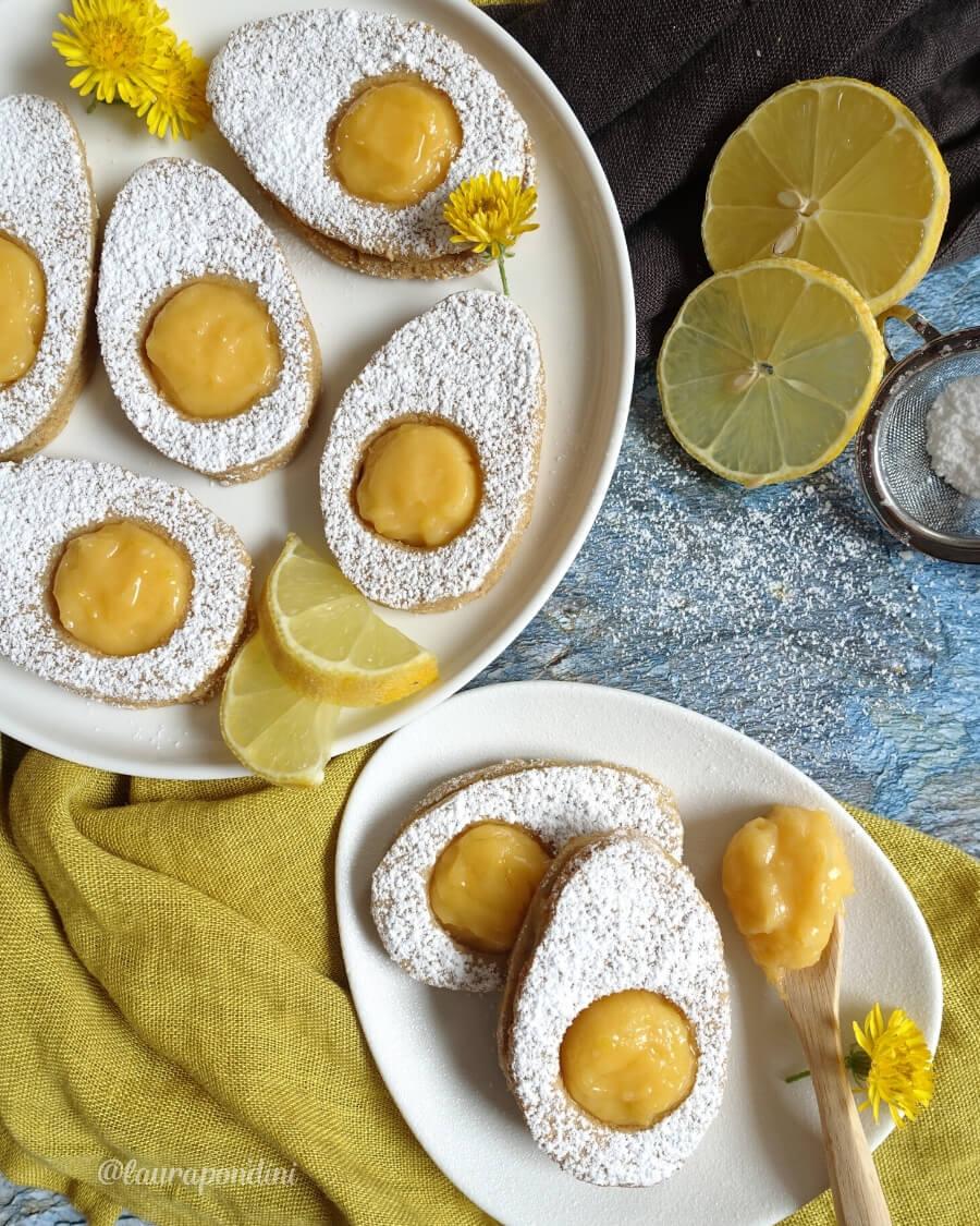 Easter Egg Cookies con lemon curd, la Ricetta leggera senza glutine