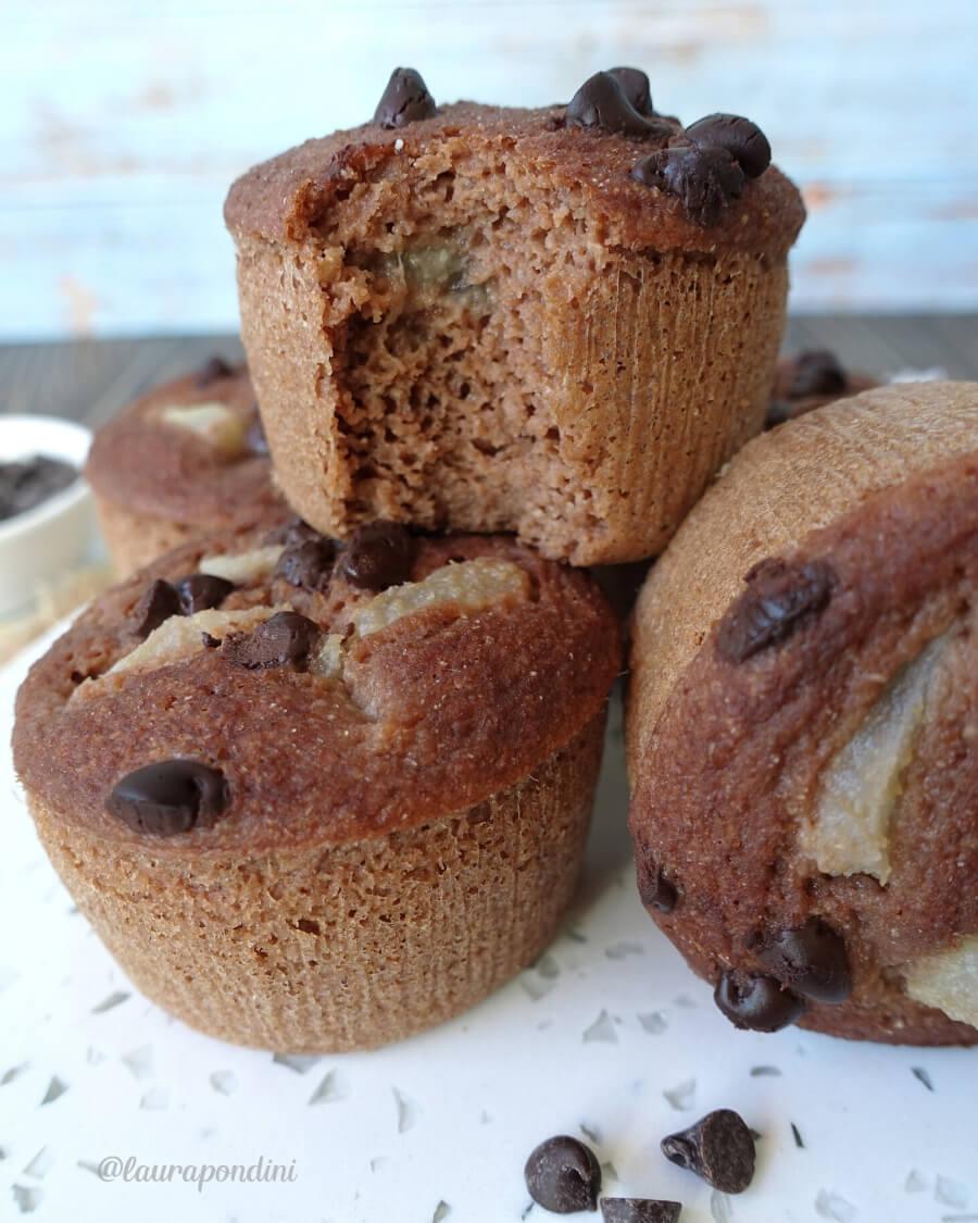 Muffins Pera e Cioccolato cotti al vapore: la Ricetta facile e veloce