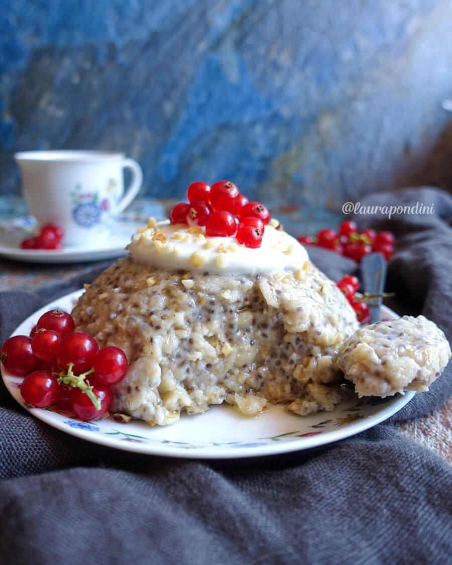 Oatmeal Cake: ricetta light senza lattosio