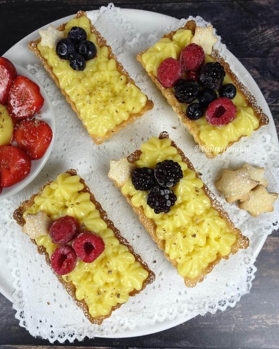Crostatine con lemon curd: la Ricetta fit senza burro