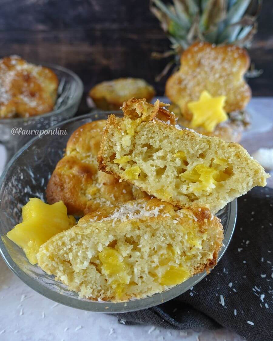 Tortine soffici Kefir, Ananas e Cocco: la Ricetta leggera e veloce