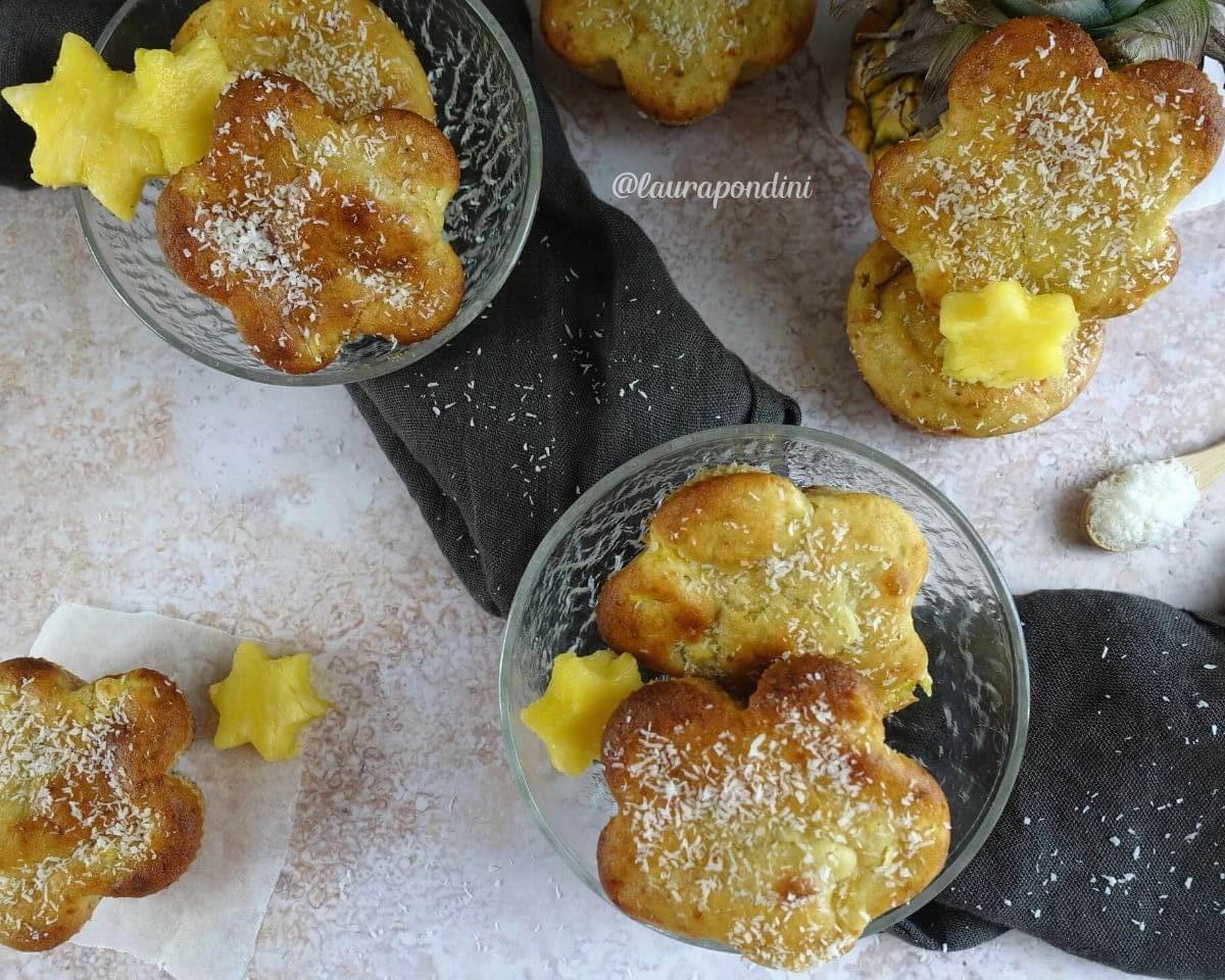 Muffins Kefir, Ananas e Cocco: la Ricetta veloce senza burro