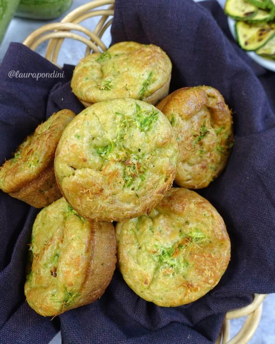 Tortine monoporzione zucchine e ricotta di capra: la Ricetta light