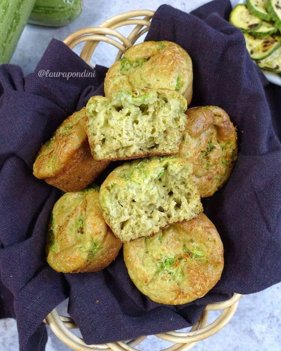 Muffins salati zucchine e ricotta di capra: la Ricetta leggera senza lievito