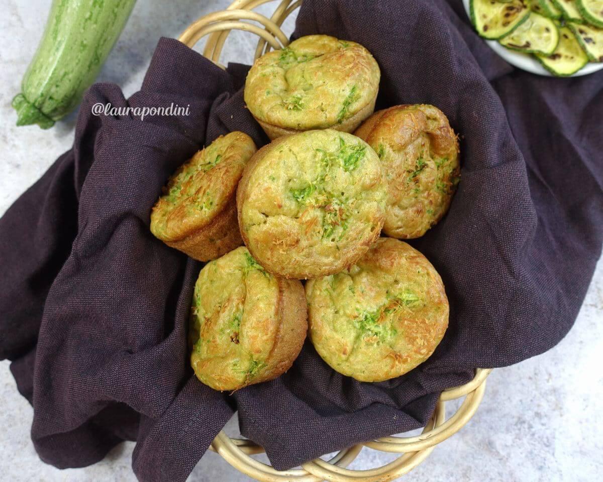 Muffins salati zucchine ericotta di capra:la Ricetta veloce senza lievito
