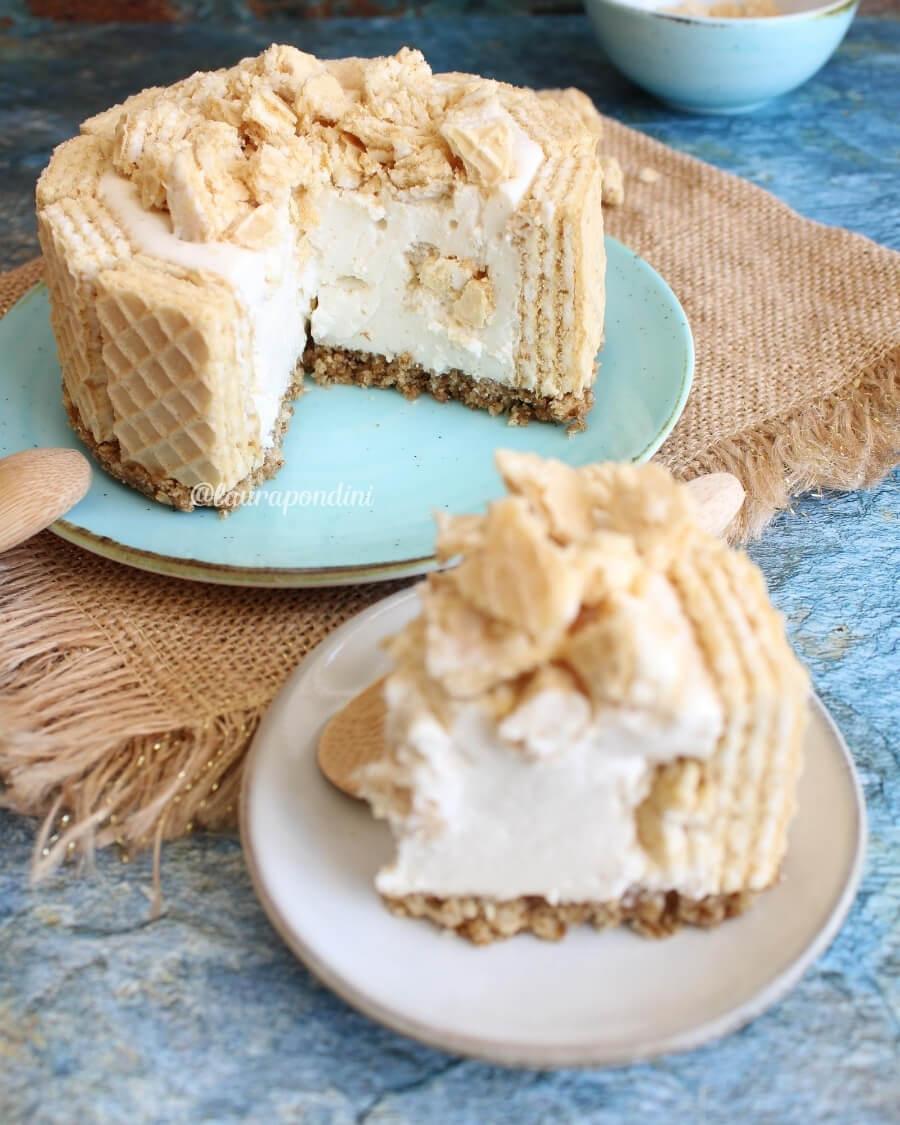 Cheesecake ai wafer leggera