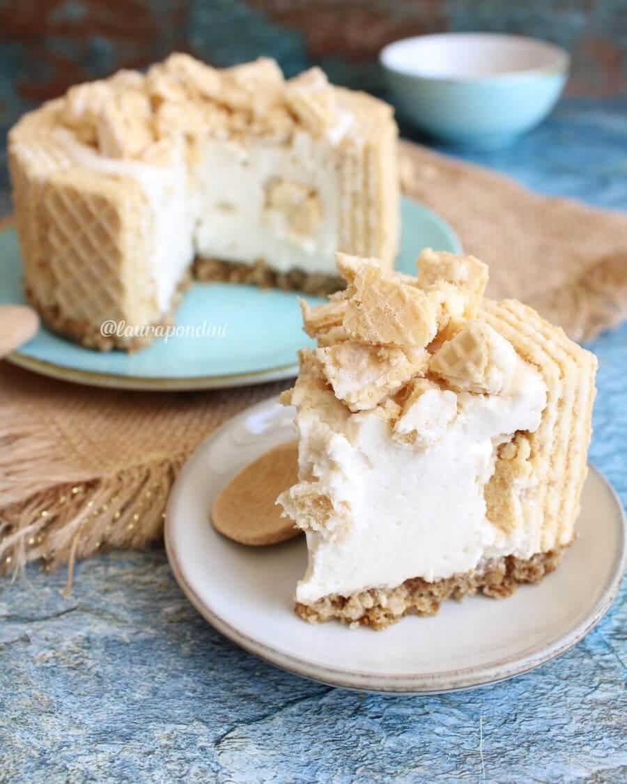 Cheesecake ai wafer con ricotta e vaniglia: la Ricetta veloce senza cottura