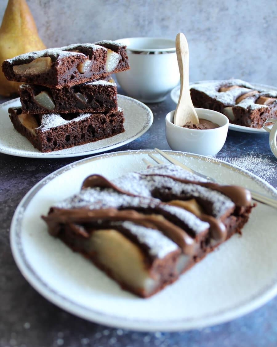 Torta pere e cioccolato: la Ricetta fit senza burro