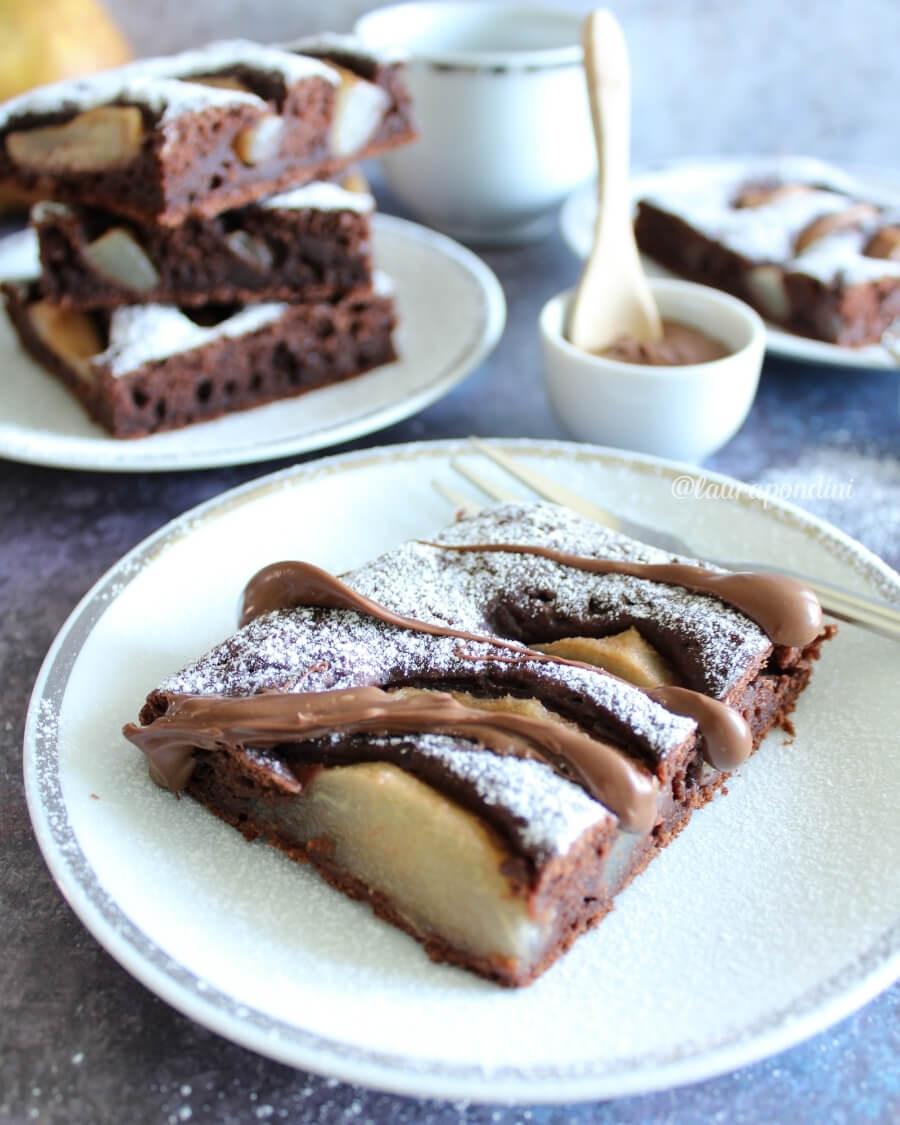 Torta tenerina pere e cioccolato: la Ricetta fit