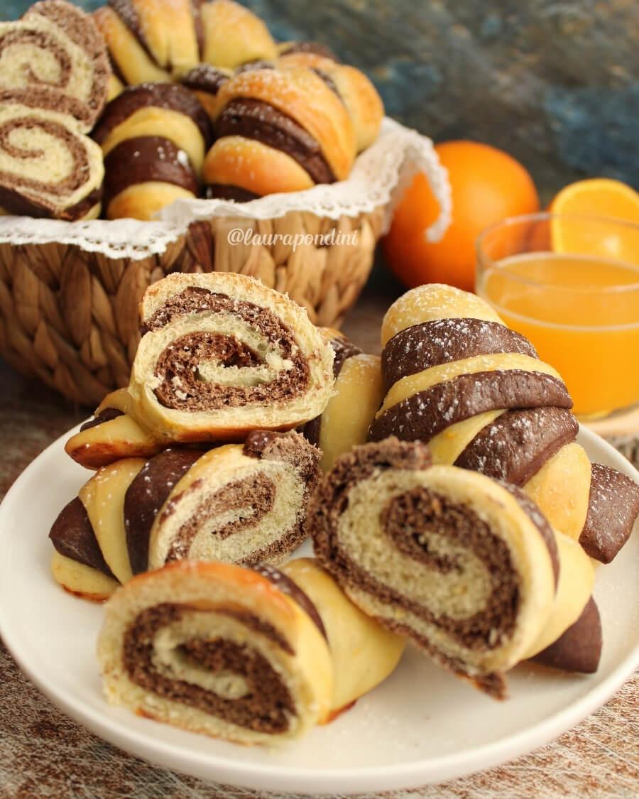 Croissants arancia e cacao: la Ricetta light