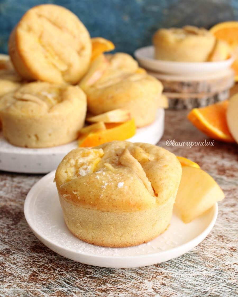 Muffins mele, arancia e vaniglia: la Ricetta veloce senza zucchero