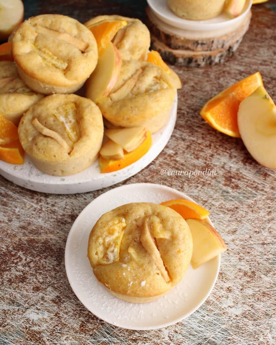 Muffins mele, arancia e vaniglia: la Ricetta fit senza burro