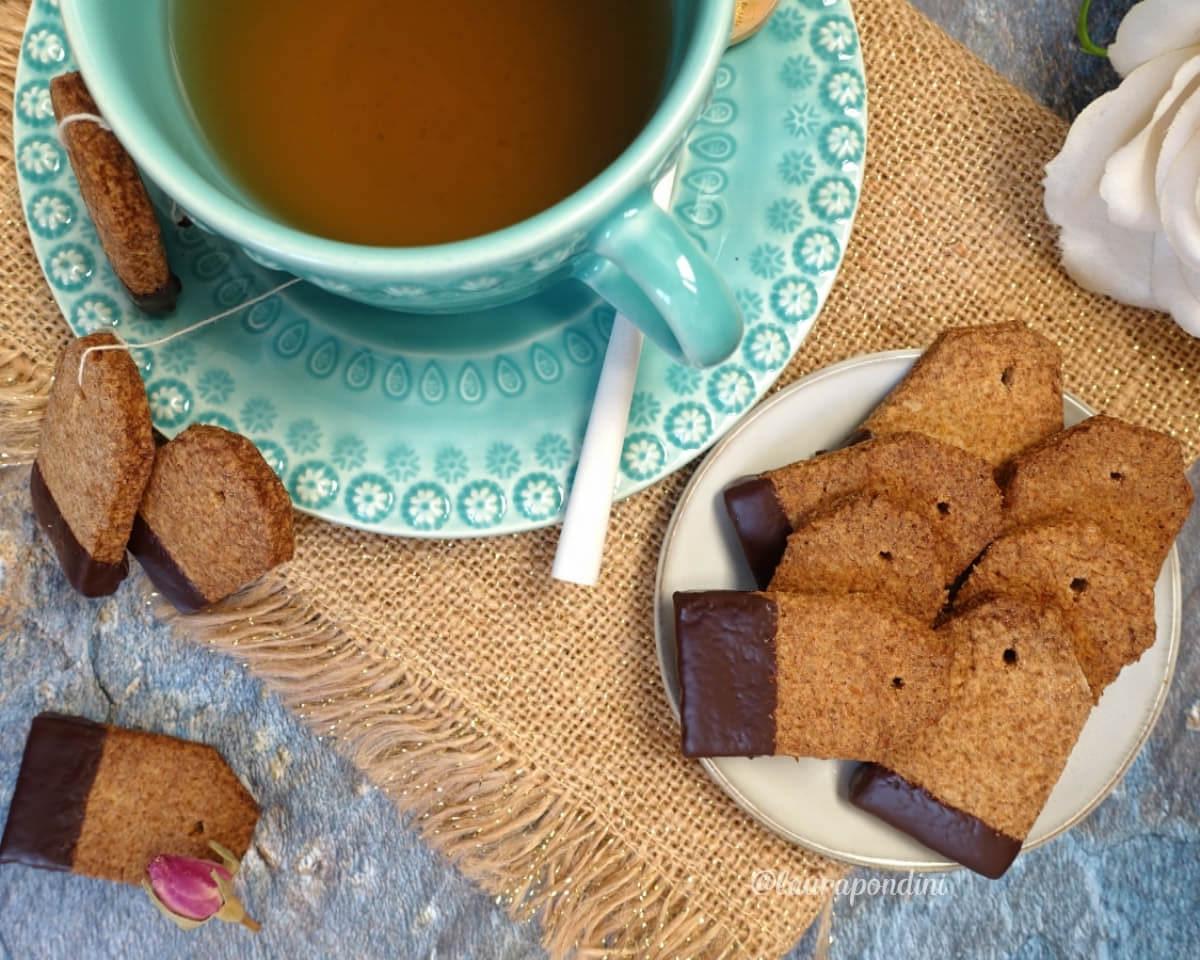 Biscotti bustina di tè: la Ricetta con pasta frolla vegan