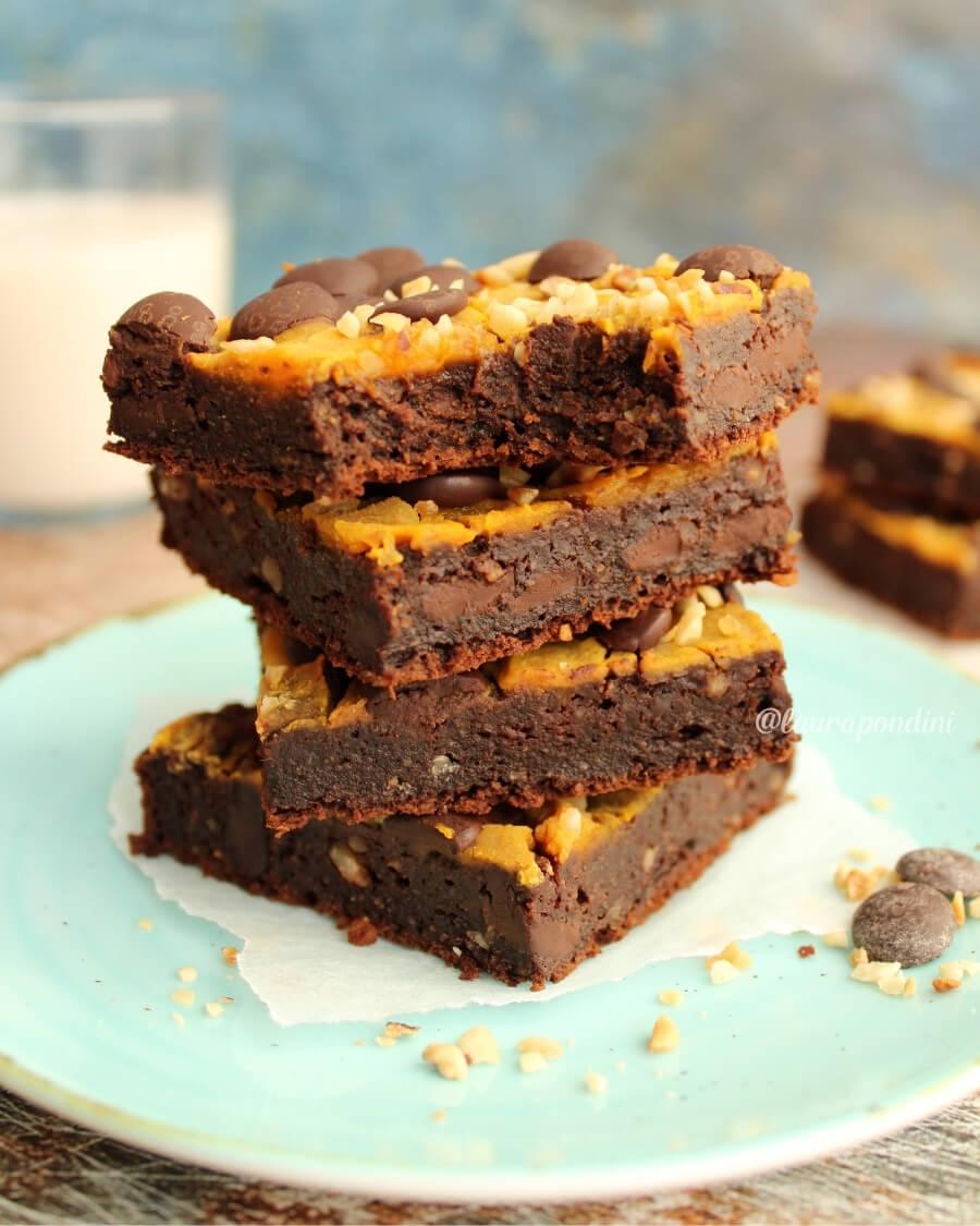 brownies zucca cioccolato ricetta fit