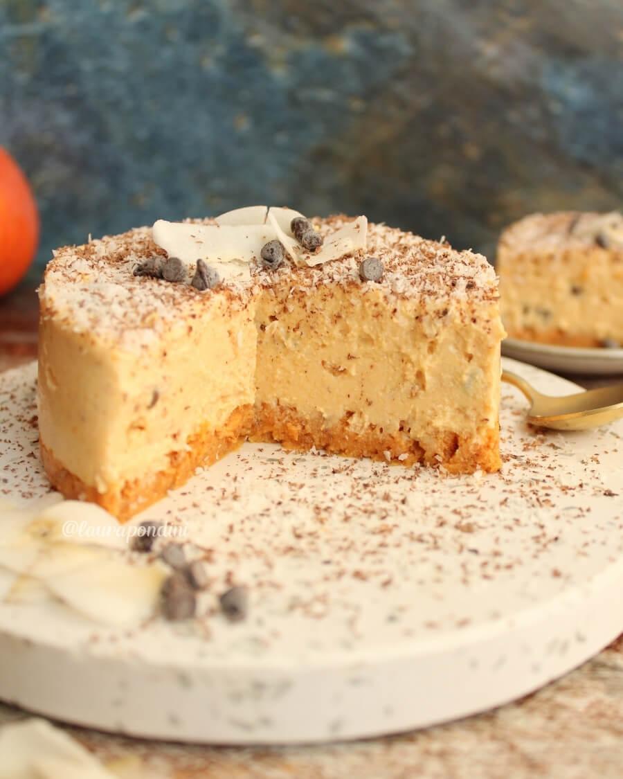 Cheesecake alla zucca senza burro