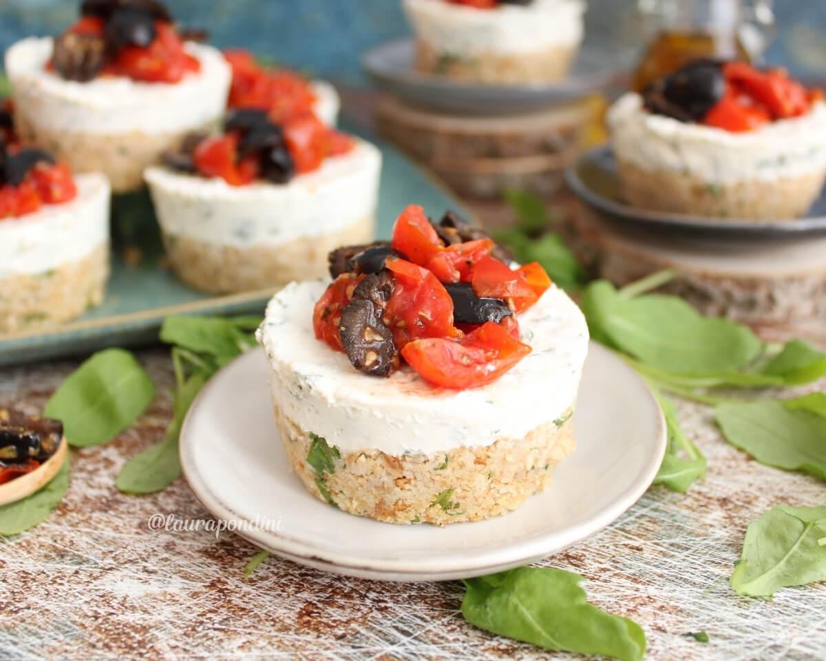 Cheesecake salata tonno e rucola: la Ricetta light senza cottura