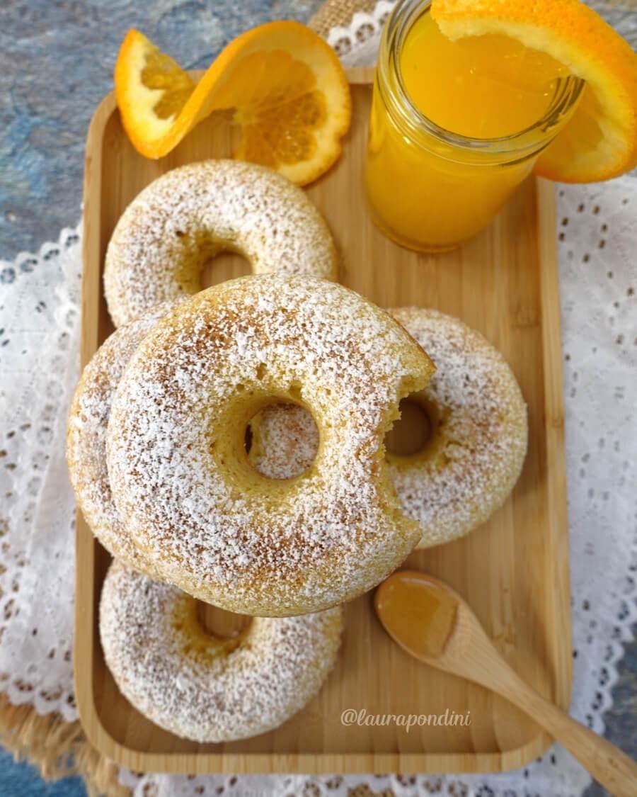 Ciambelle miele e arancia: senza burro e senza glutine