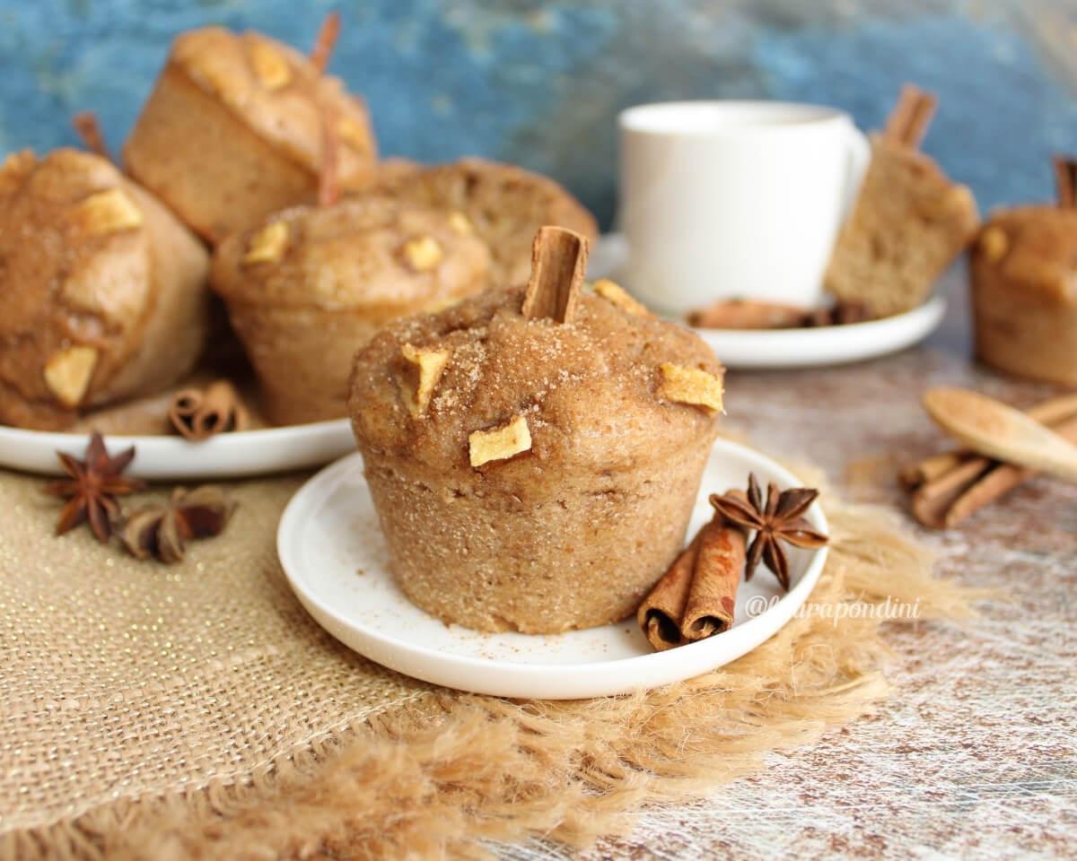 Muffins alla cannella: la Ricetta light senza burro e senza uova