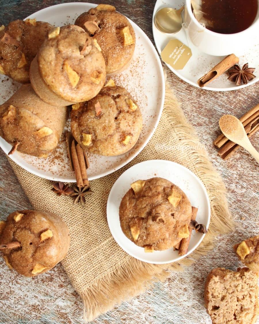 Muffins alla cannella: la Ricetta fit senza uova