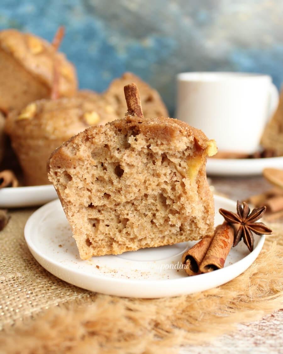 Muffins alla cannella: la Ricetta vegan e senza lattosio