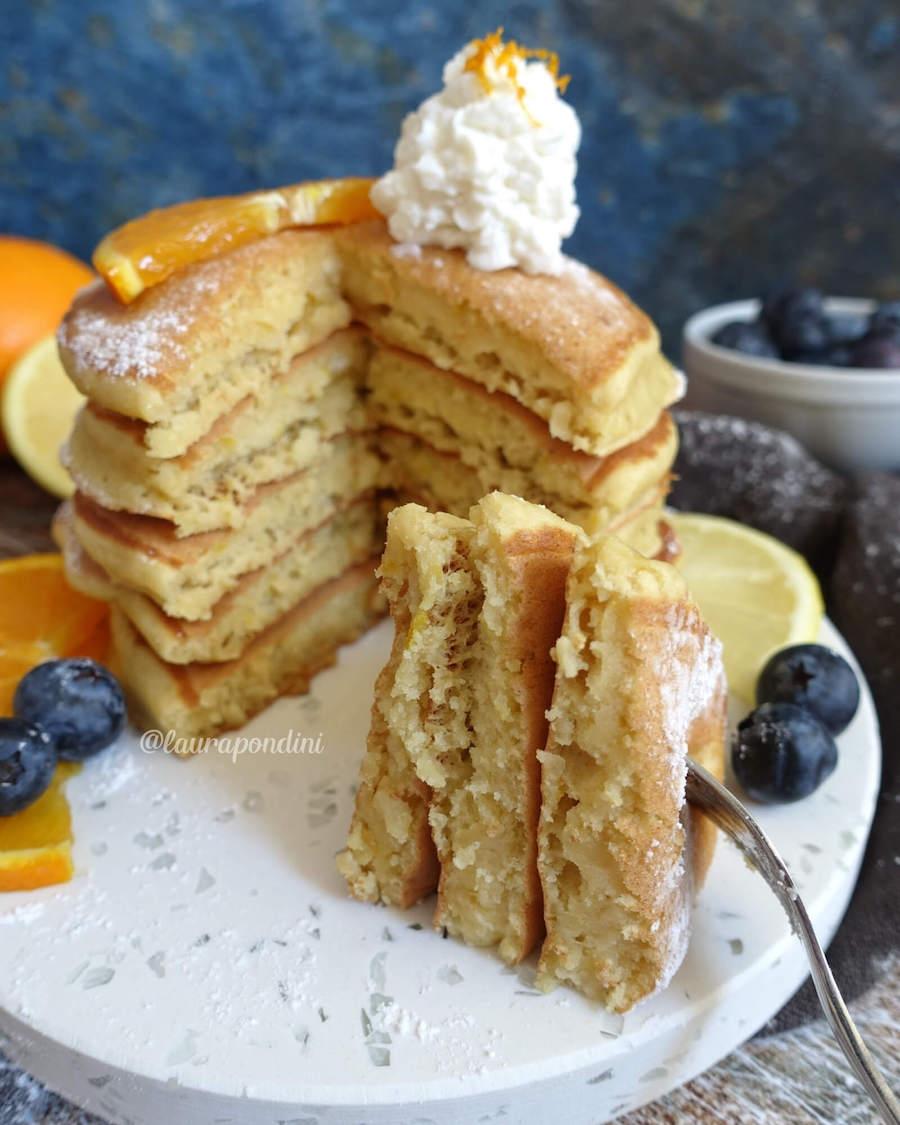Pancakes ricotta e limone: la Ricetta light