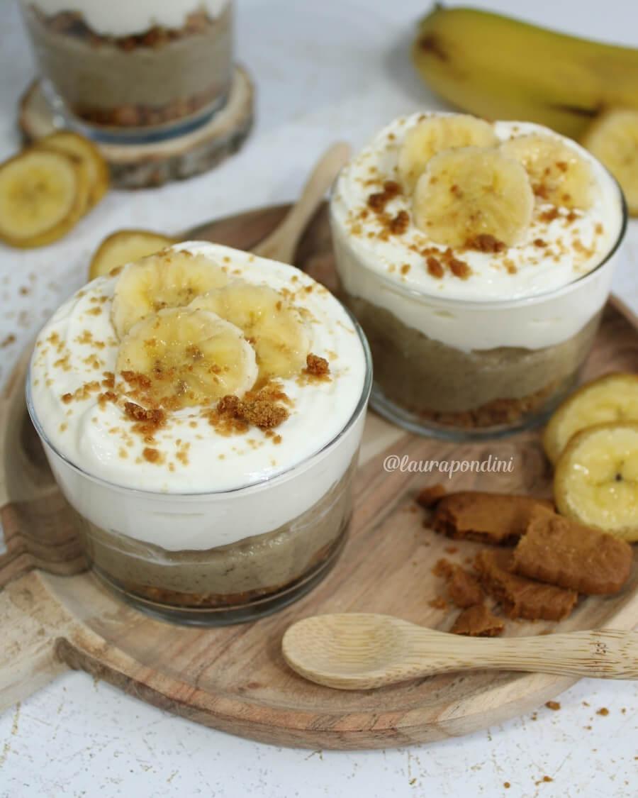 Bicchierini crema pasticcera alla banana