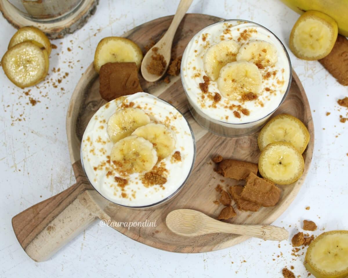 Bicchierini con crema pasticcera alla banana: la Ricetta light
