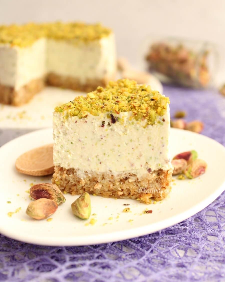 Cheesecake al pistacchio, ricetta light
