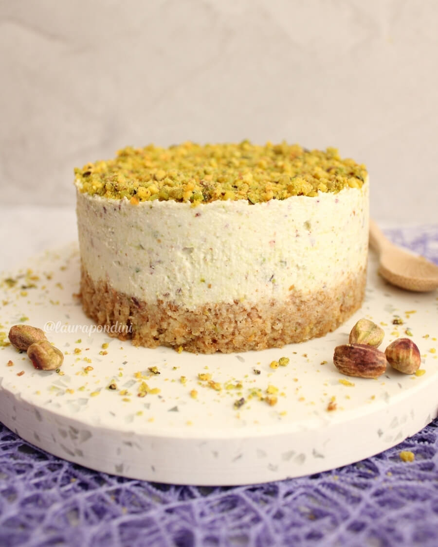 Cheesecake al pistacchio, ricetta senza gelatina