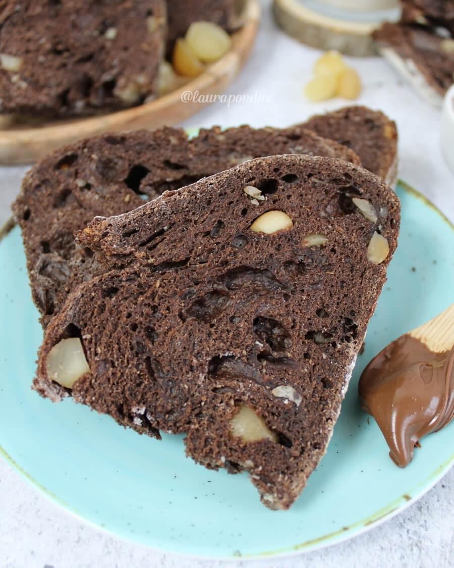 Pane cacao e noci, ricetta con licoli