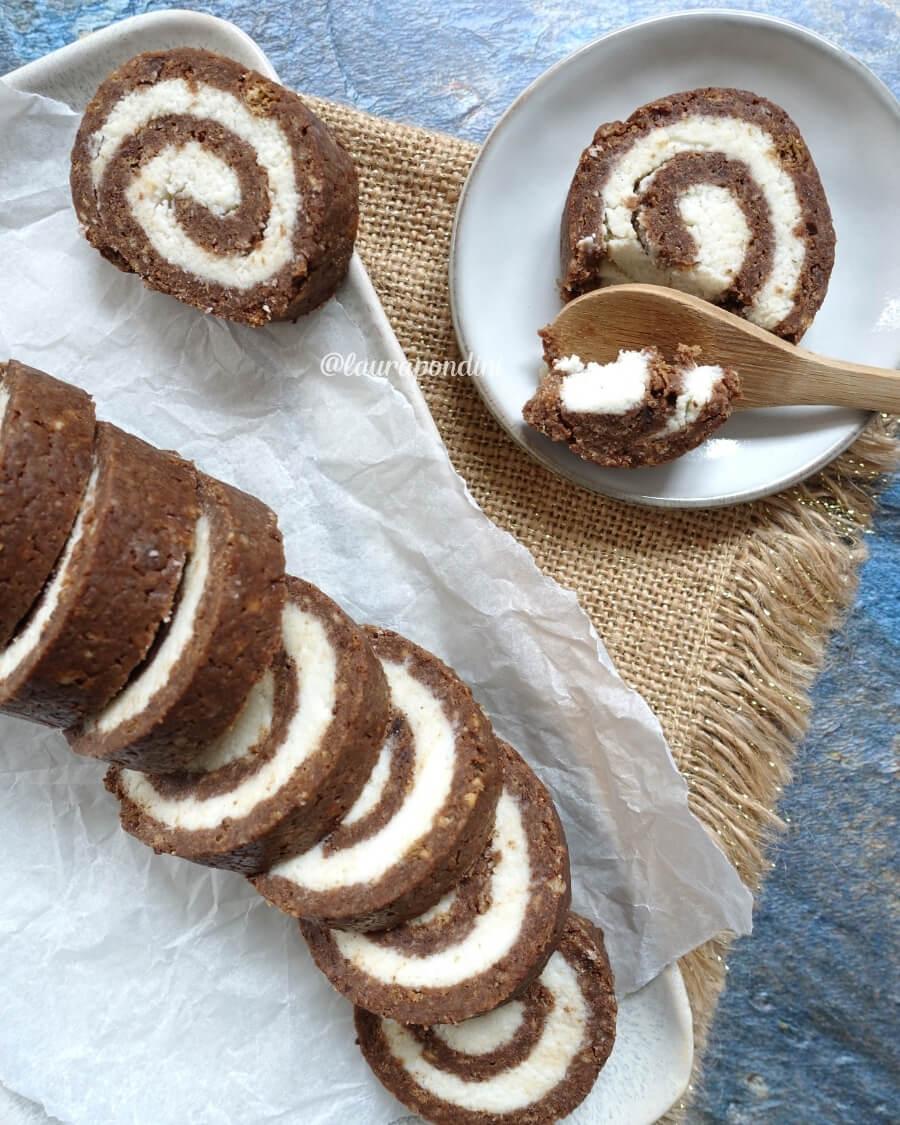 Rotolo senza cottura cioccolato cocco ricetta leggera