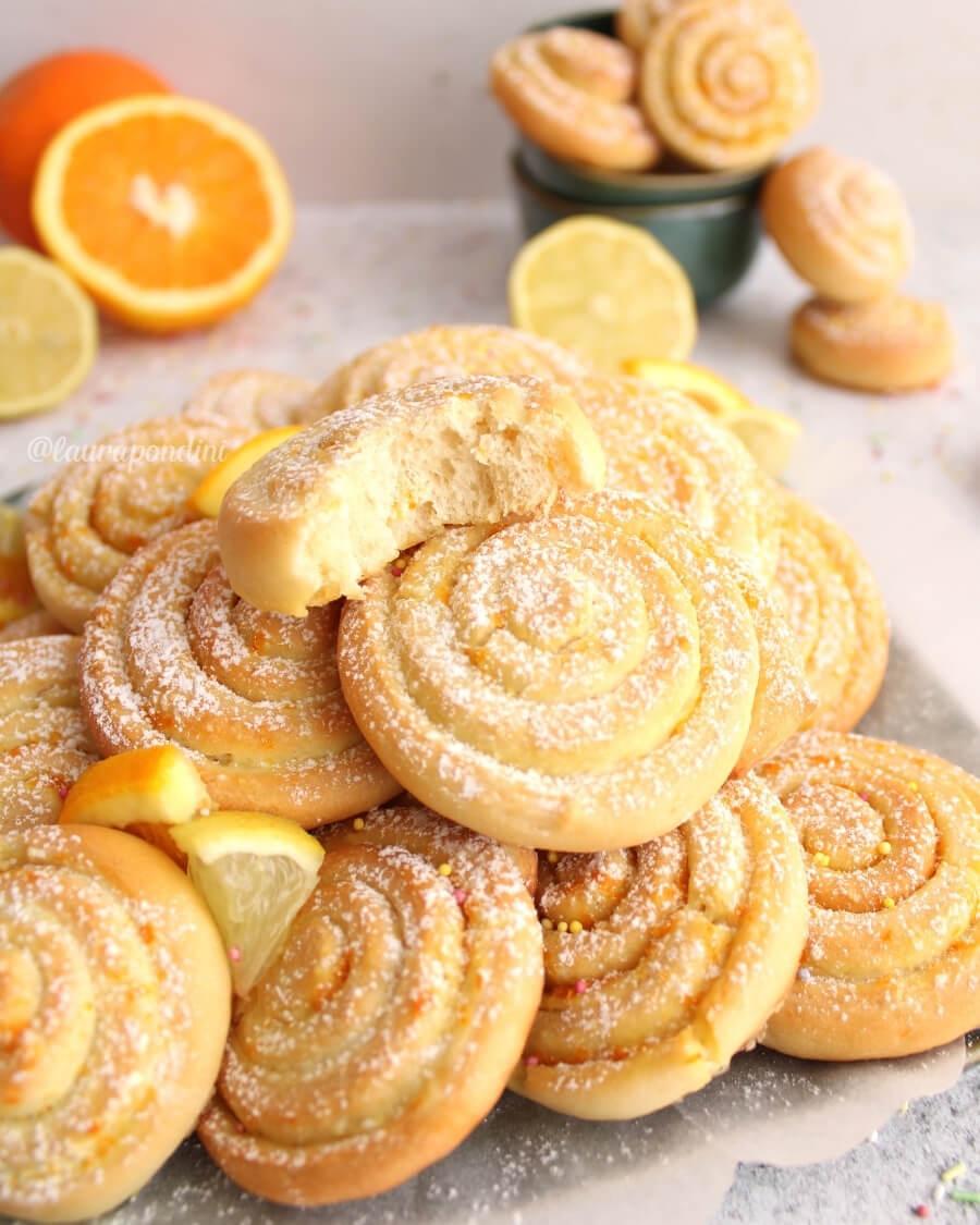 Arancini limoncini di Carnevale al forno