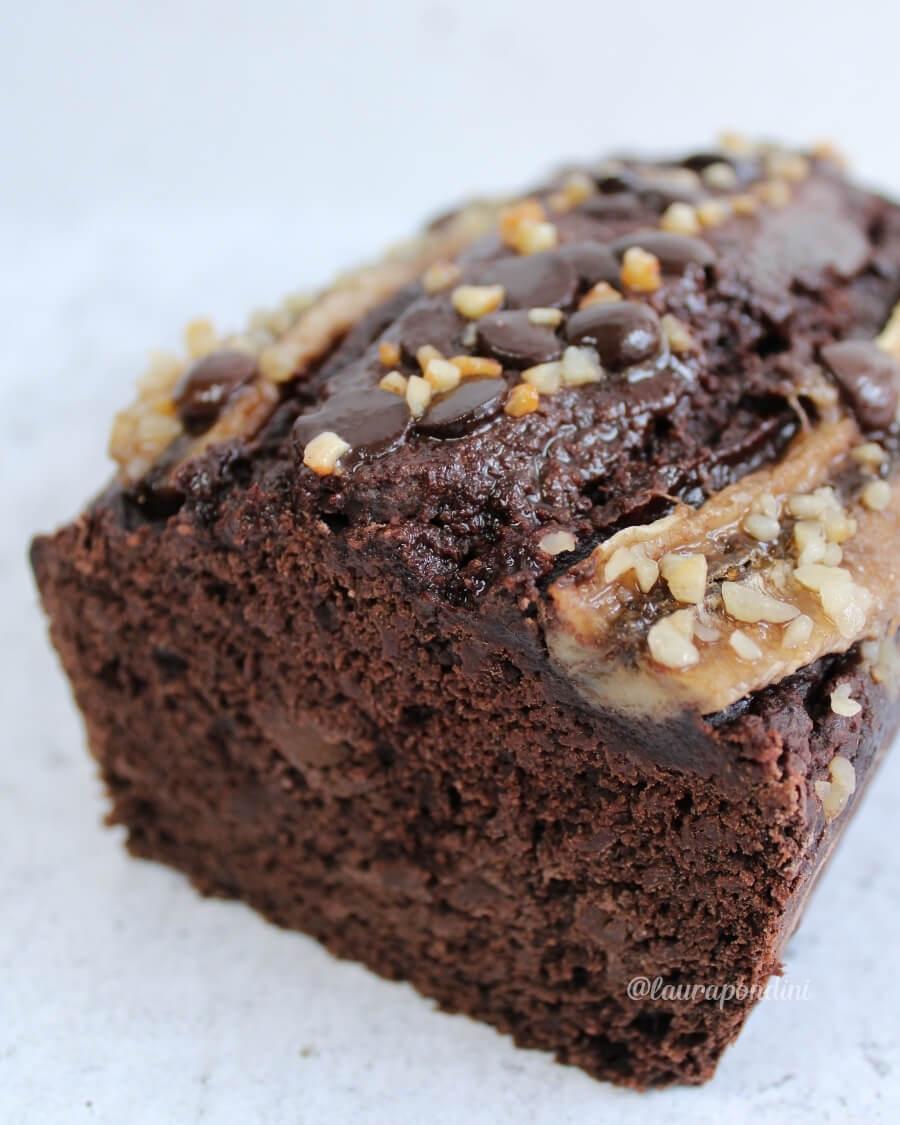 Banana bread cacao vegano senza glutine