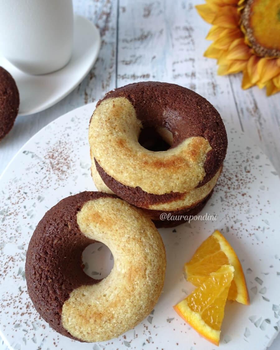 Ciambelle aquafaba cacao arancia ricetta senza burro