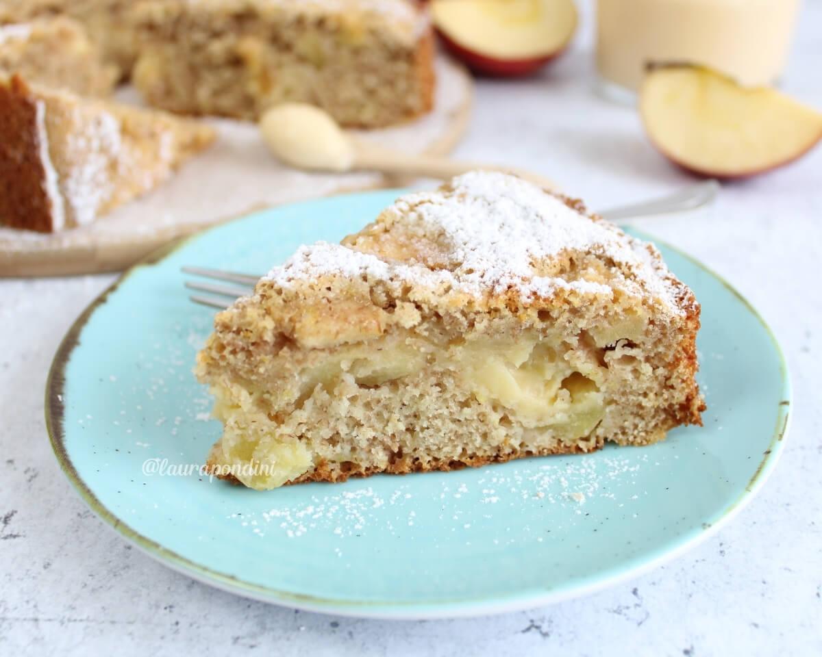 Torta di mele integrale con crema pasticciera fit: la Ricetta