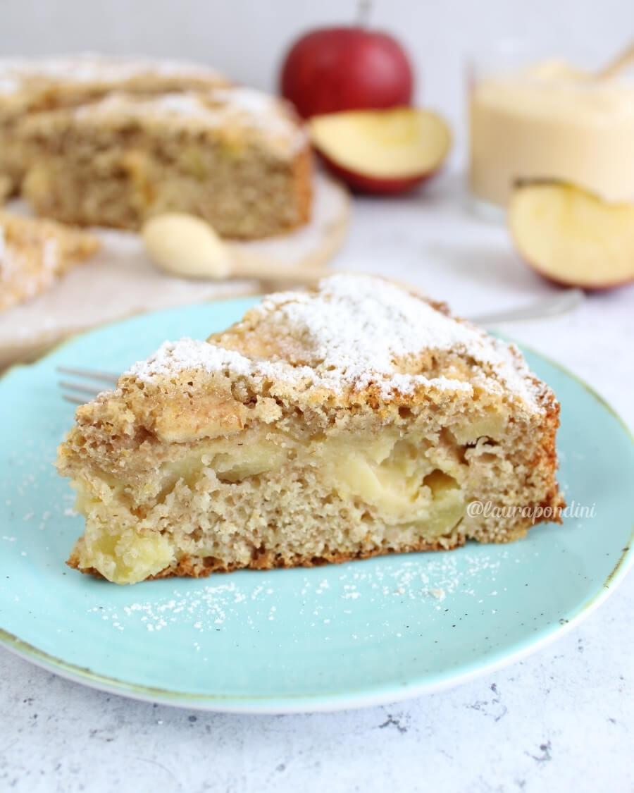 Torta di mele con crema pasticcera farina di farro