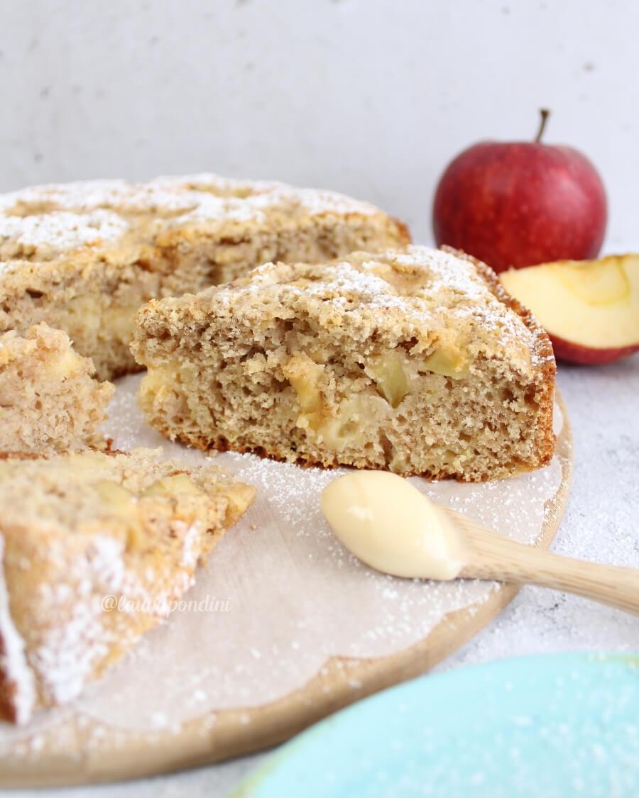 Torta di mele con crema pasticcera ricetta light