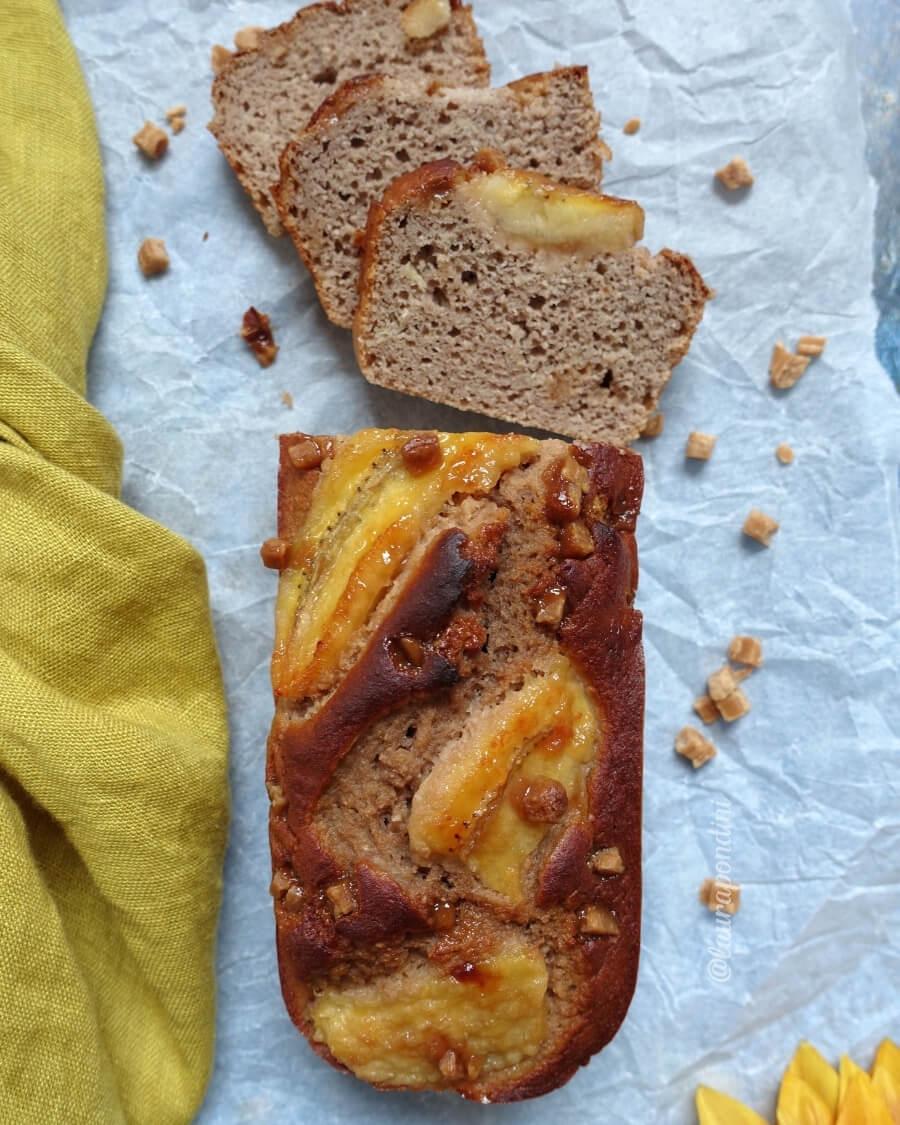 Banana bread cioccolato caramello ricetta fit