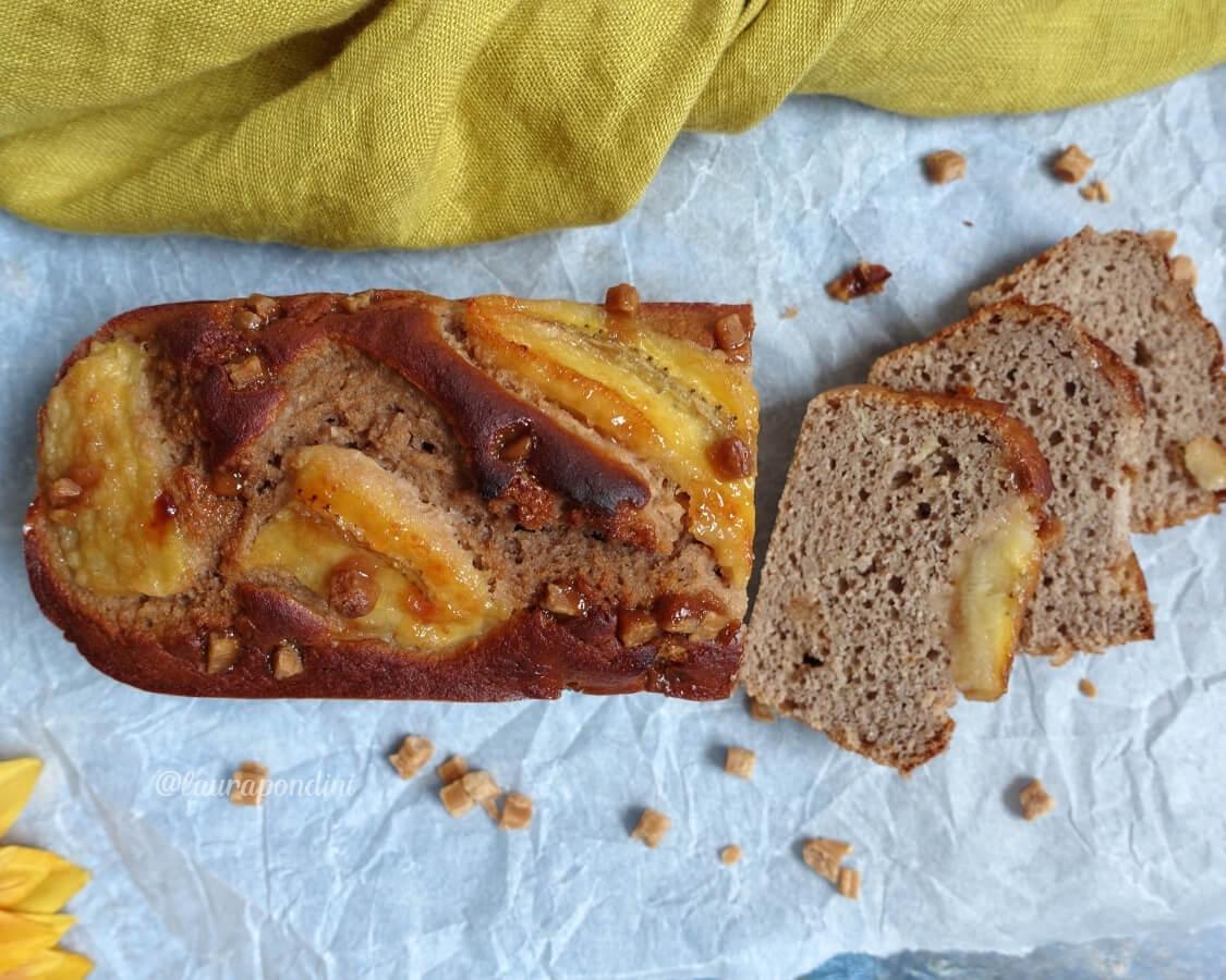 Banana Bread al cioccolato e caramello: la Ricetta proteica