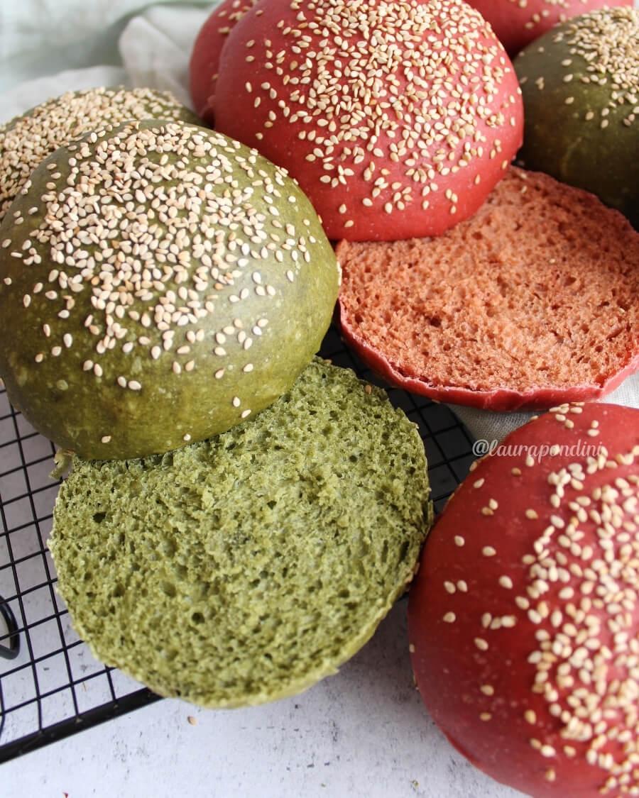 Burger buns colorati