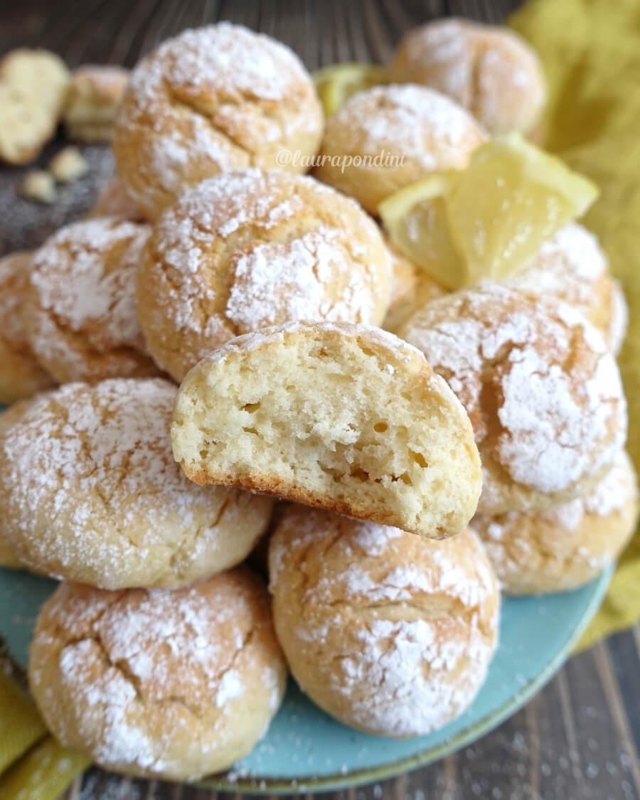 Lemon crinkle cookies ricetta