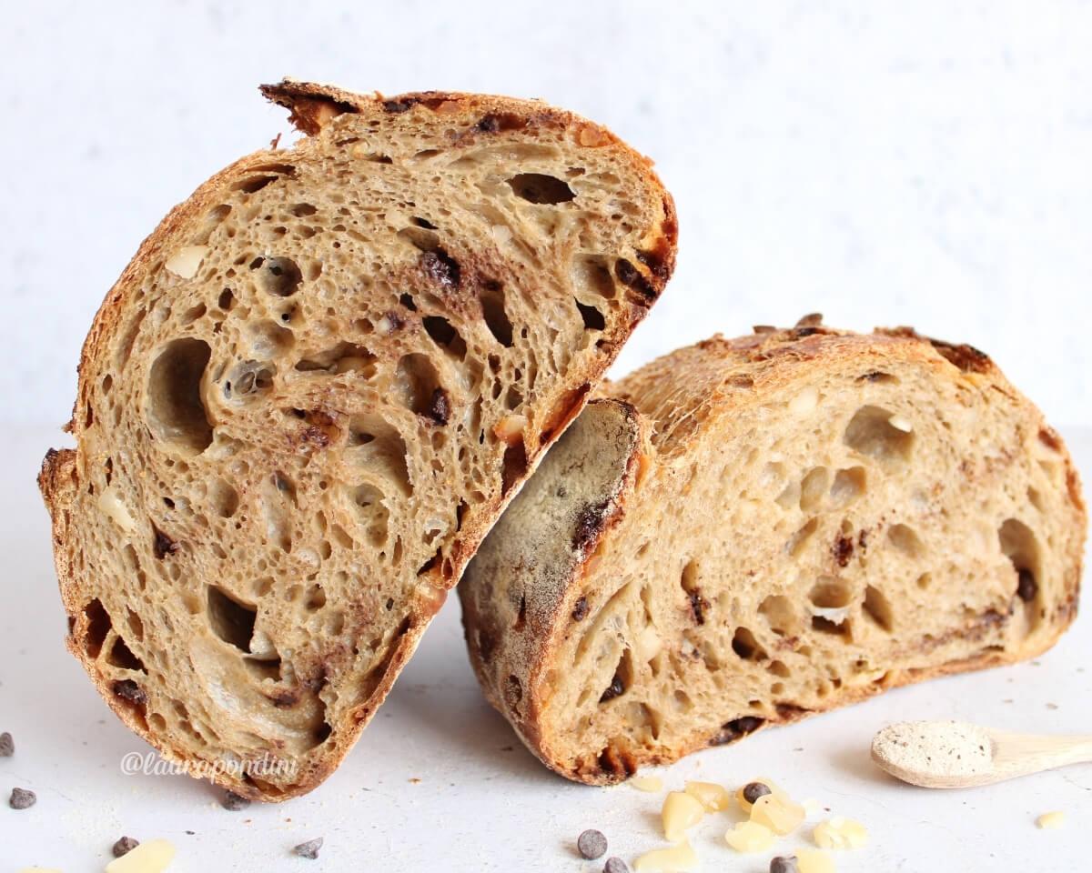 Pane al cappuccino con noci e cioccolato: la Ricetta con licoli