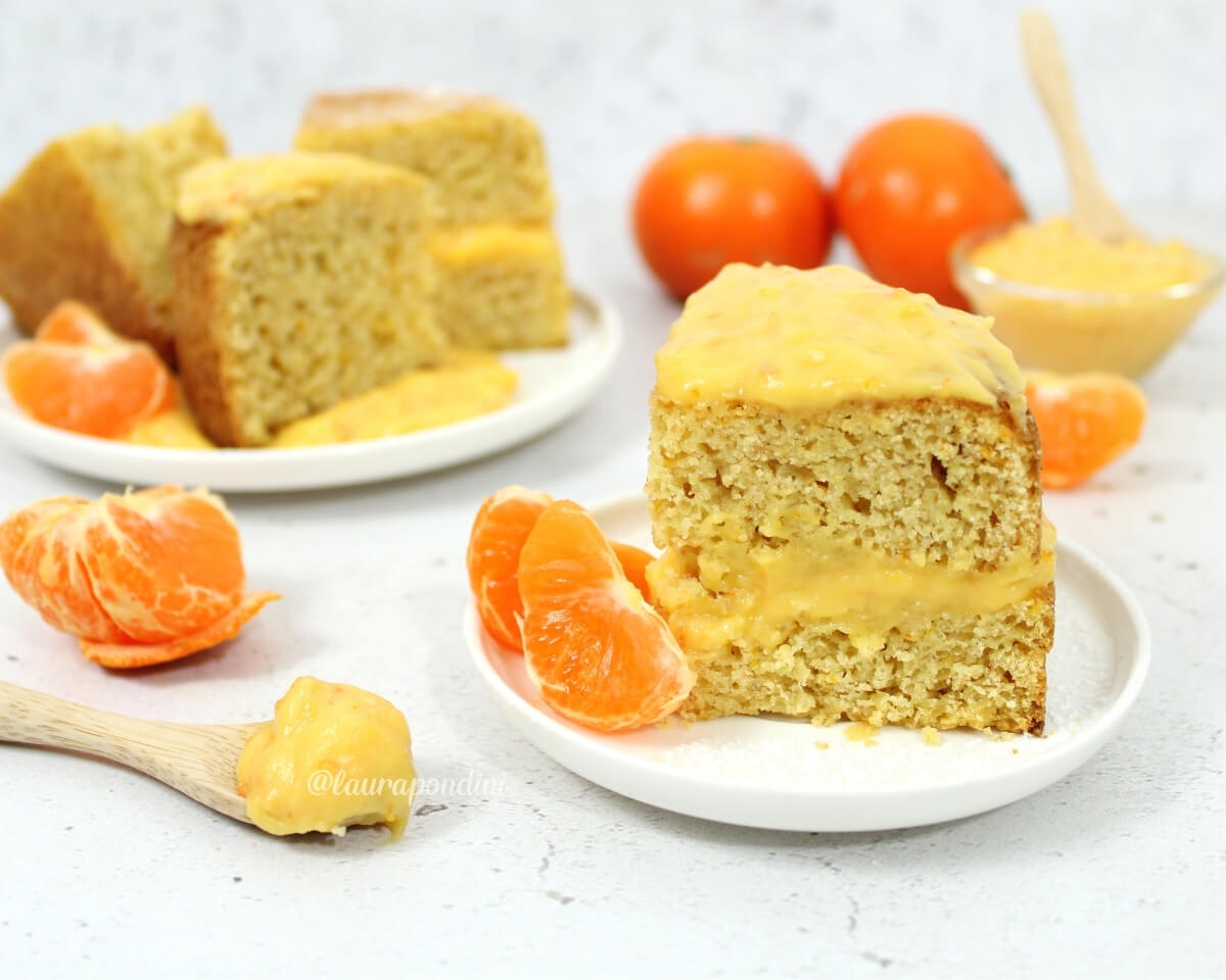 Torta soffice farcita con Mandarin Curd: la Ricetta senza burro