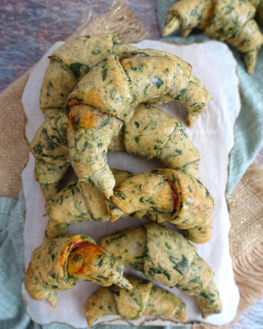 Cornetti salati ricotta spinaci ricetta veloce
