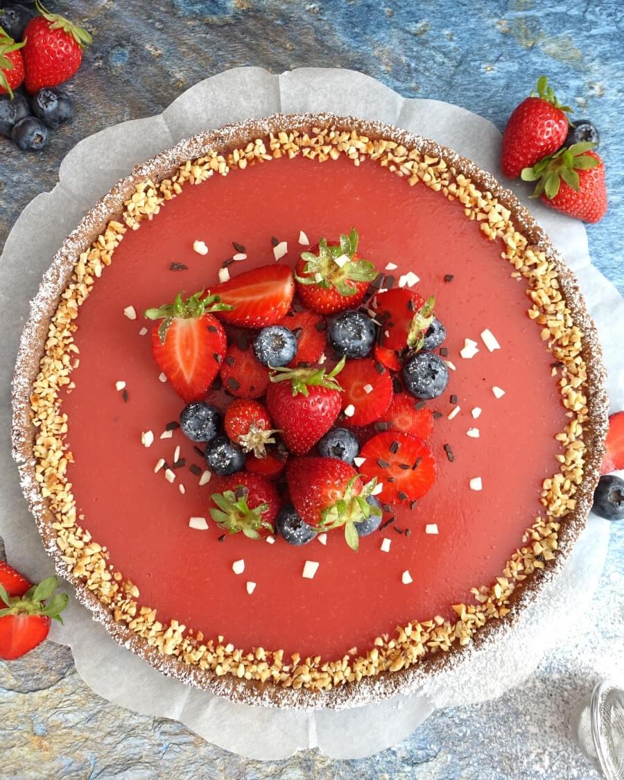 Crostata frutti bosco crema fragole acqua ricetta fit