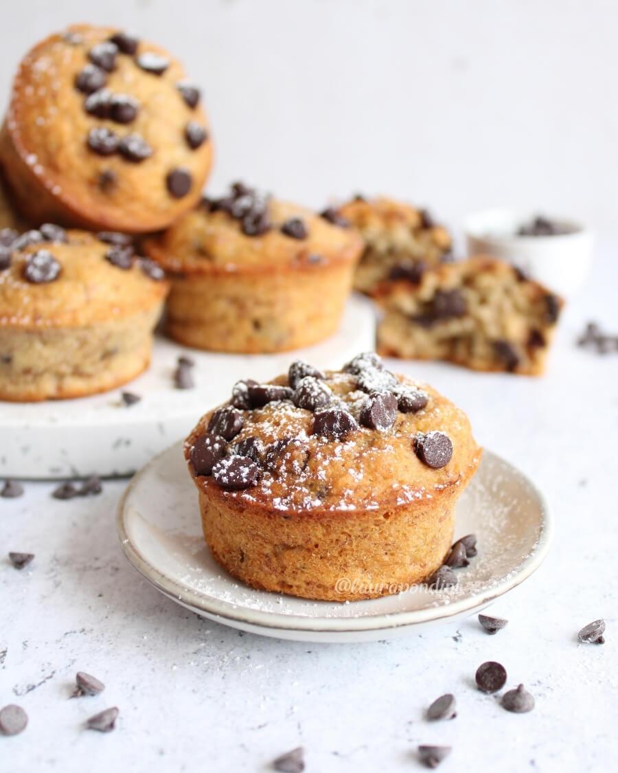 Muffins banana cioccolato ricetta facile