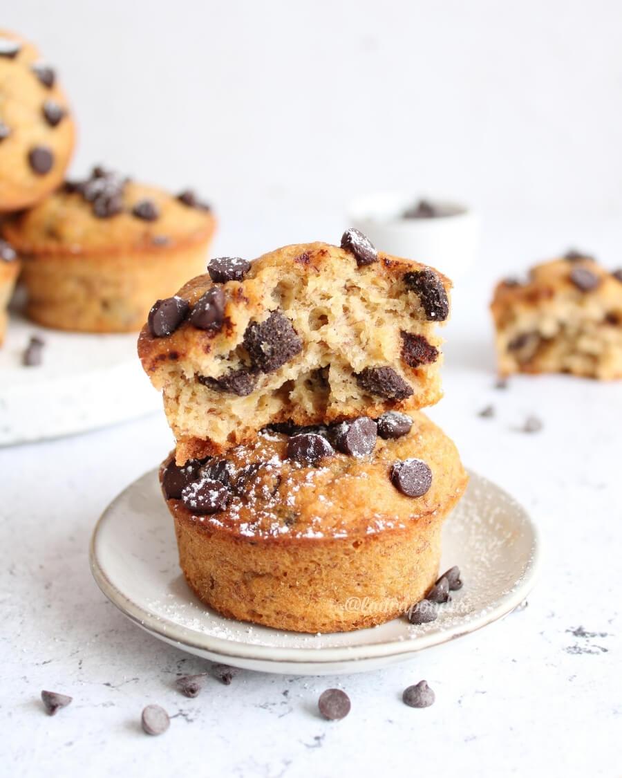 Muffins banana cioccolato ricetta fit