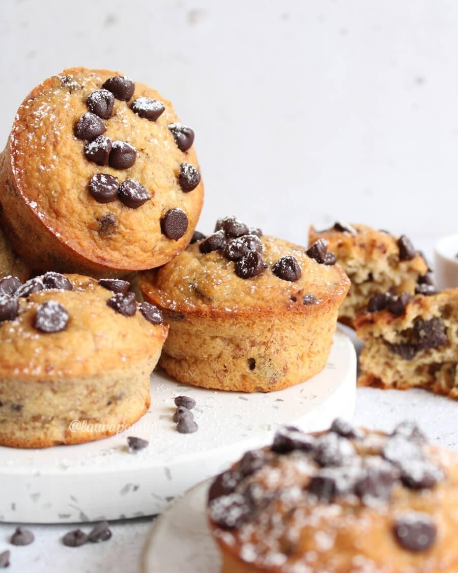 Muffins banana cioccolato ricetta veloce