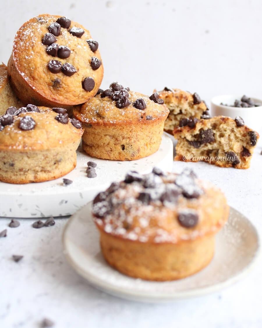 Muffins banana cioccolato ricetta senza zucchero