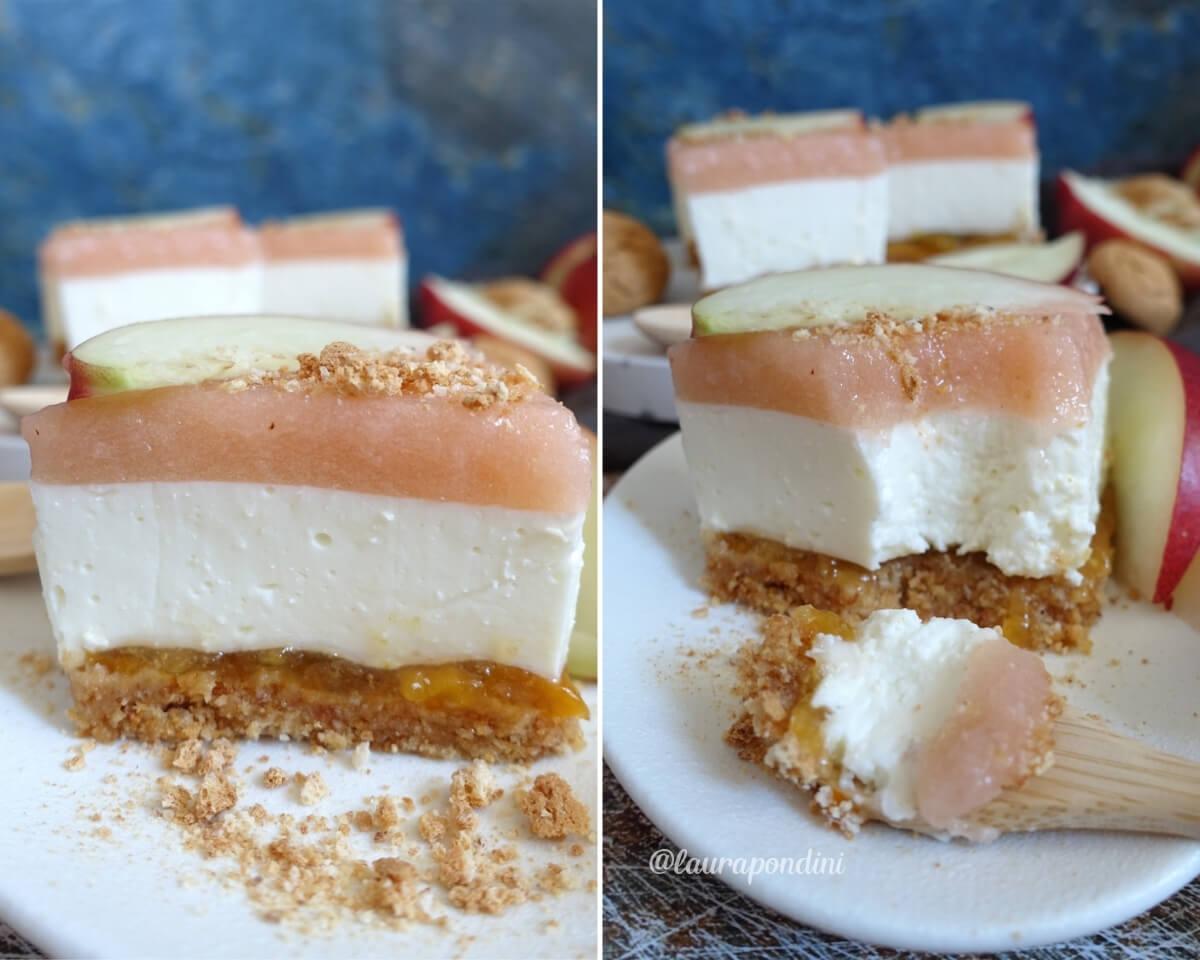 Cheesecake pesche e amaretti: la Ricetta senza dolcificanti